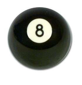 2 inch  Aramith Black no. 8 Ball
