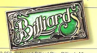 Pin, Billiard Sign